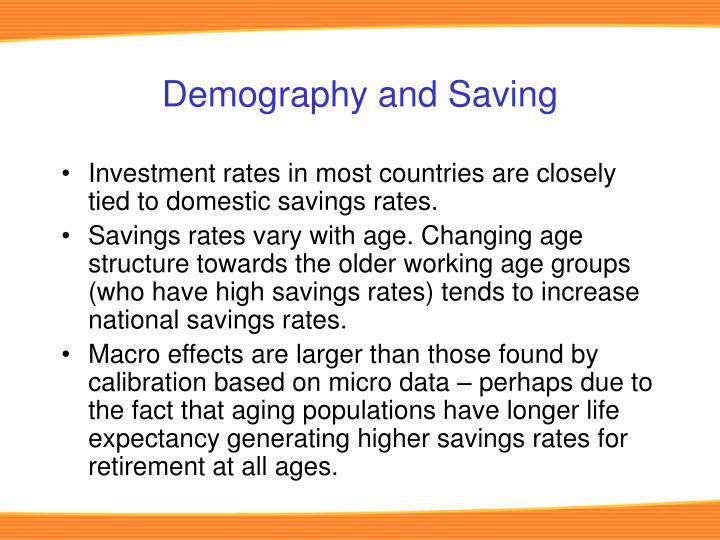 Demography and Saving
