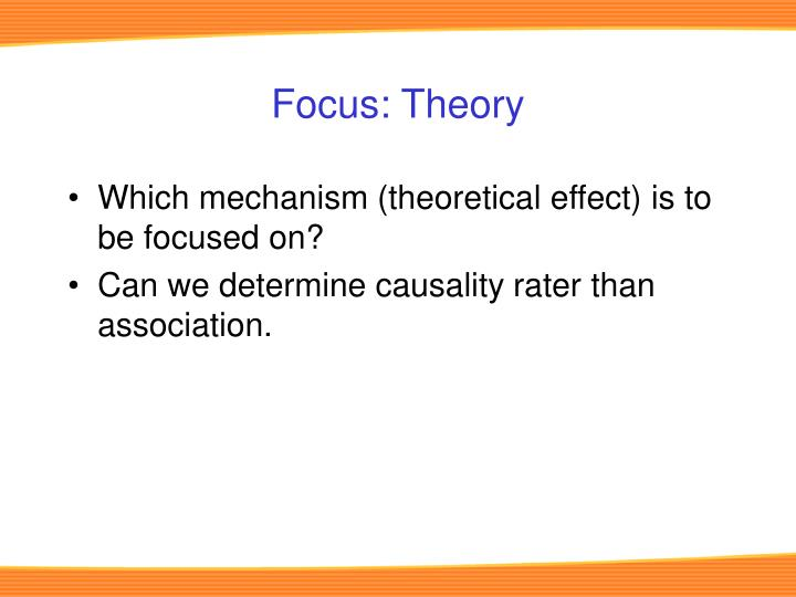 Focus: Theory