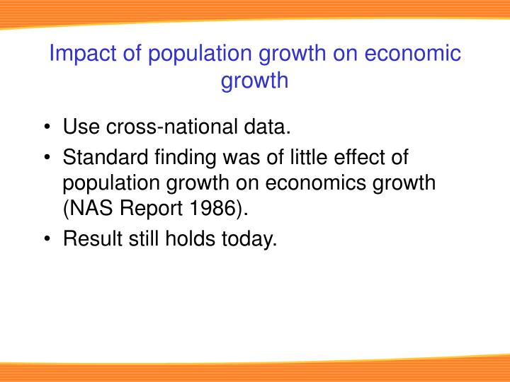 Impact of population growth on economic growth