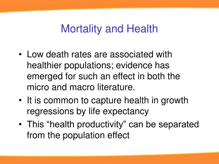 Mortality and Health