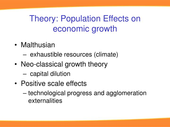 Theory population effects on economic growth