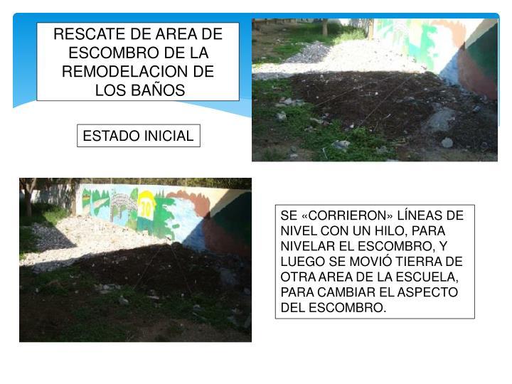 RESCATE DE AREA DE