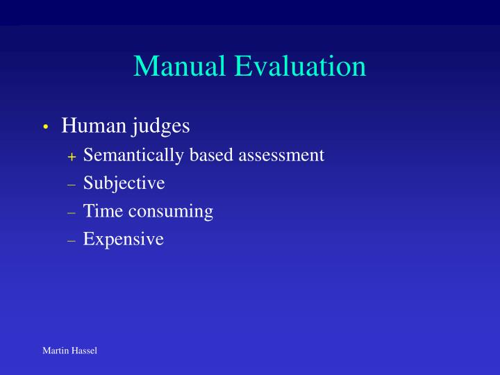 Manual Evaluation