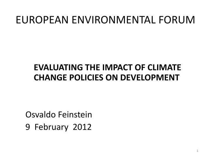 European environmental forum