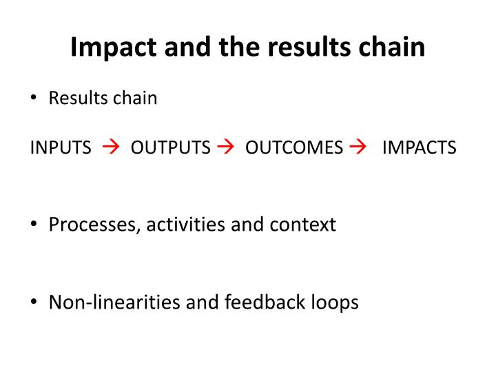 Impact and the results chain