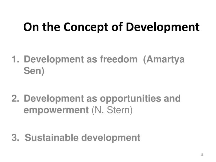 On the Concept of Development