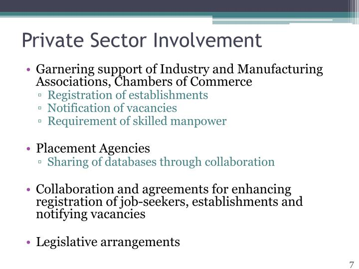 Private Sector Involvement