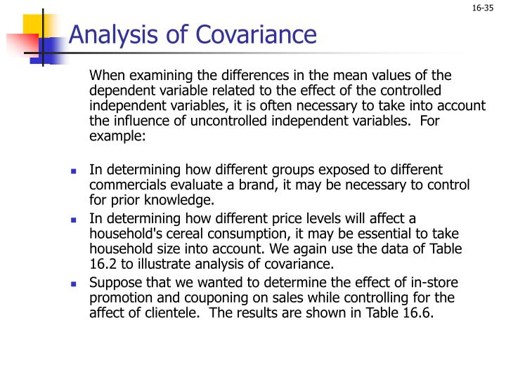 Analysis of Covariance