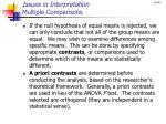 issues in interpretation multiple comparisons
