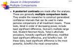 issues in interpretation multiple comparisons1