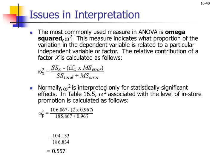 Issues in Interpretation