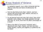 n way analysis of variance