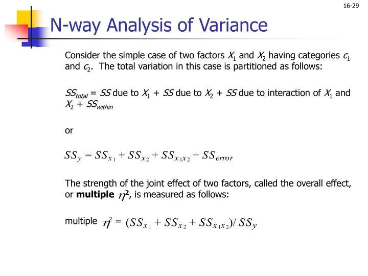 N-way Analysis of Variance