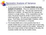 nonmetric analysis of variance1