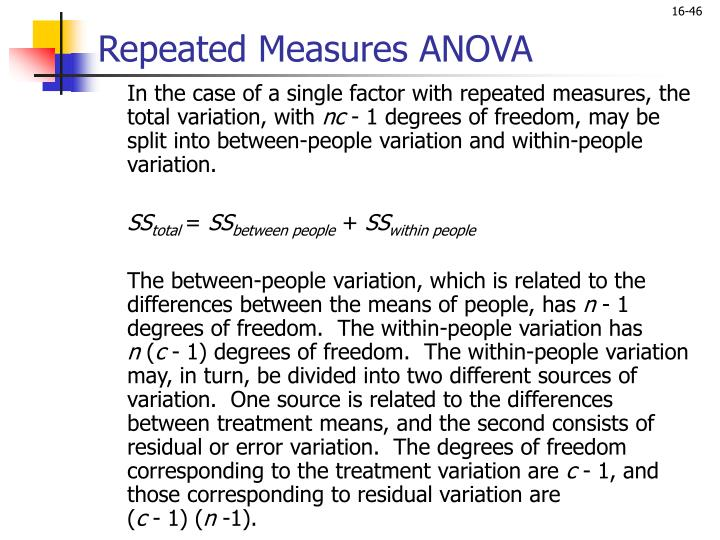 Repeated Measures ANOVA