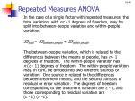 repeated measures anova1