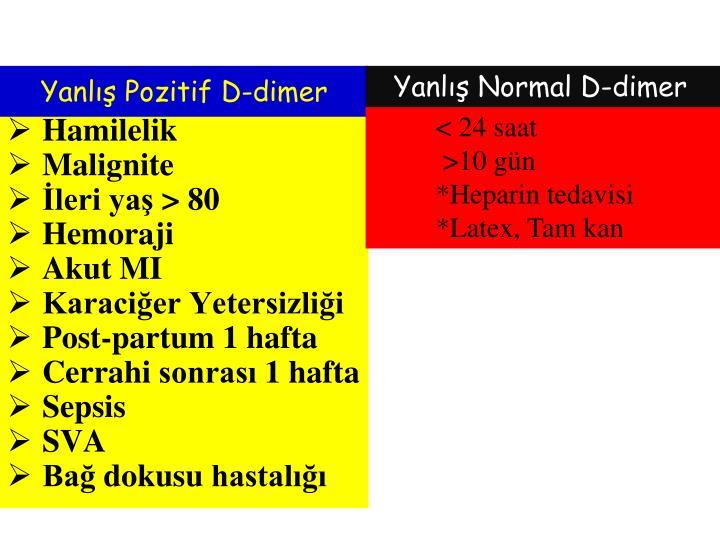 Yanlış Pozitif D-dimer