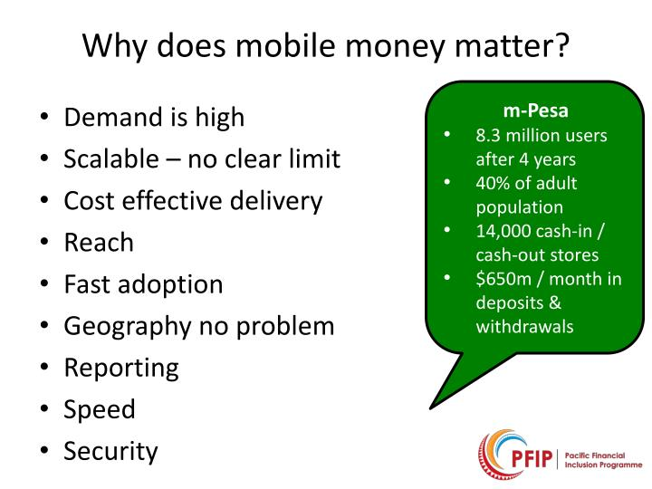 Why does mobile money matter?