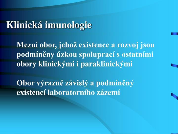 Klinická imunologie