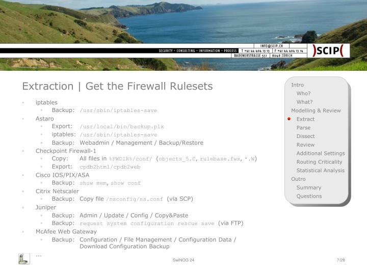Extraction | Get the Firewall Rulesets