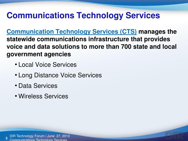 Communications Technology Services