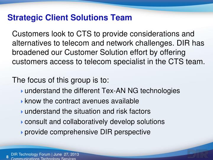Strategic Client Solutions Team