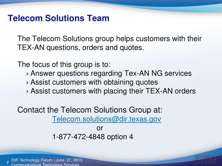 Telecom Solutions Team