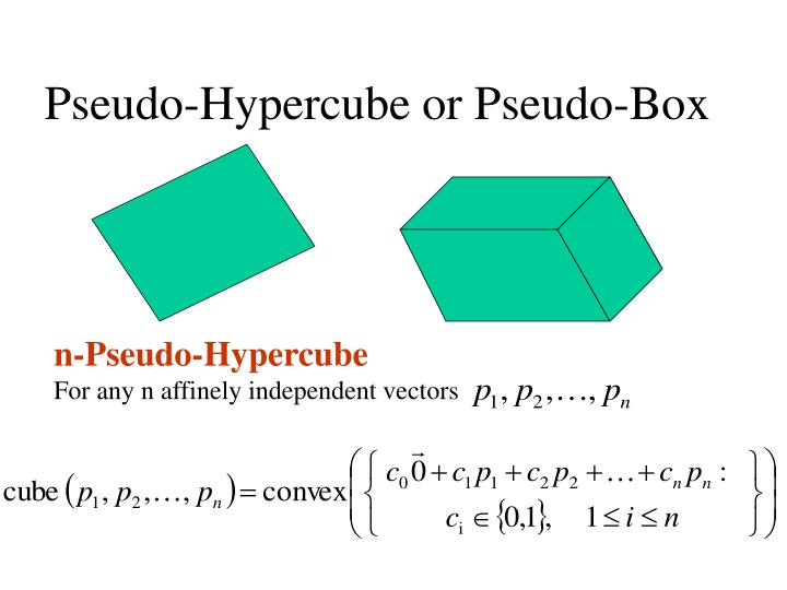 Pseudo-Hypercube or Pseudo-Box