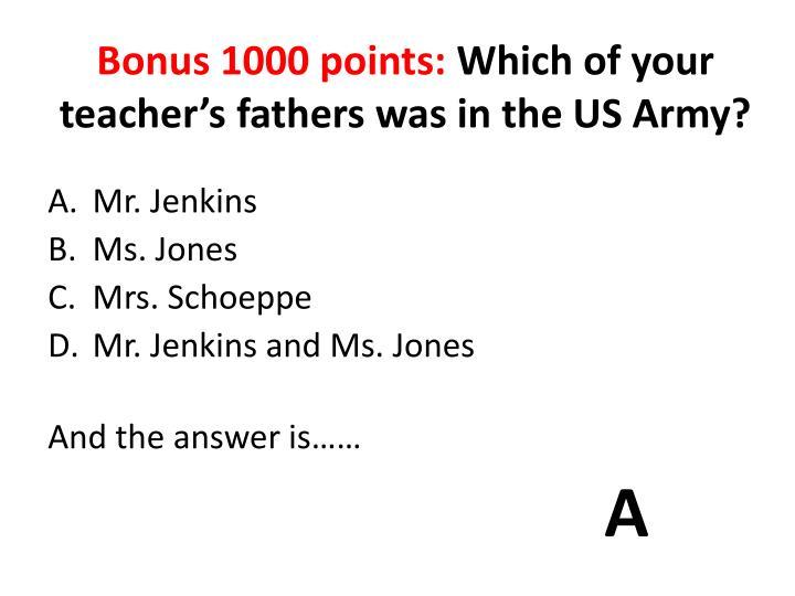 Bonus 1000 points: