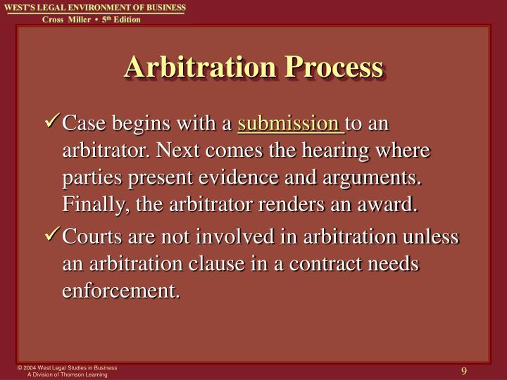 Arbitration Process