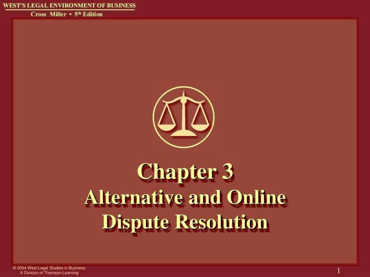 Chapter 3 alternative and online dispute resolution