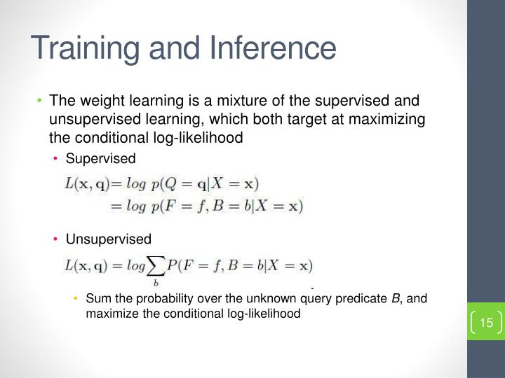 Training and Inference