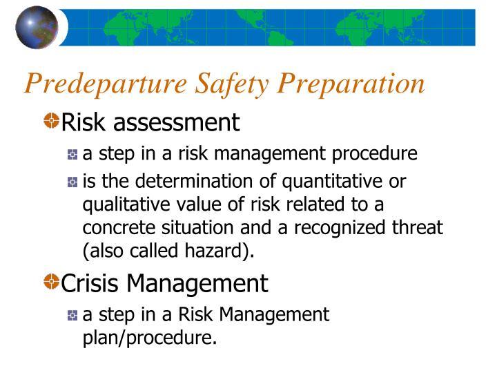 Predeparture Safety Preparation