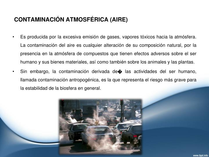 Contaminaci n atmosf rica aire