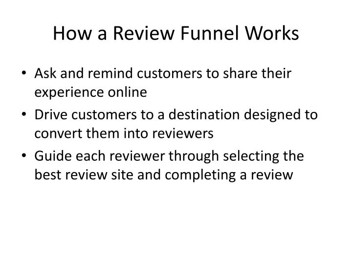 How a Review Funnel Works