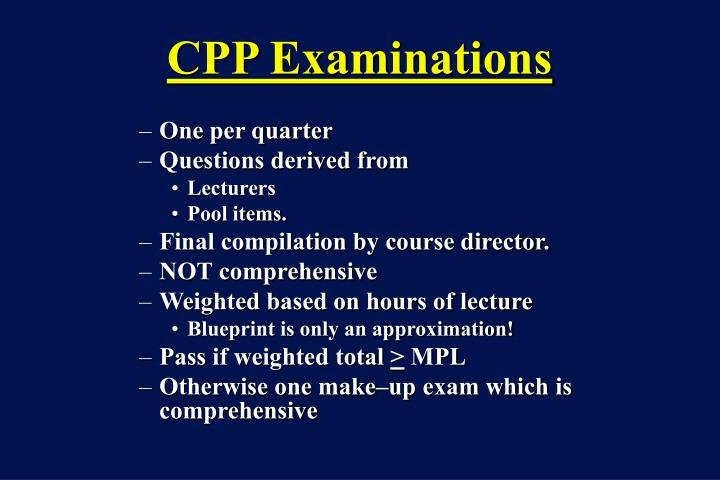 CPP Examinations