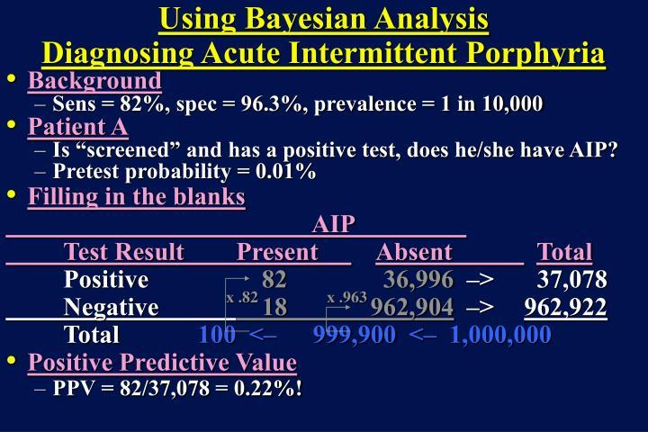 Using Bayesian Analysis