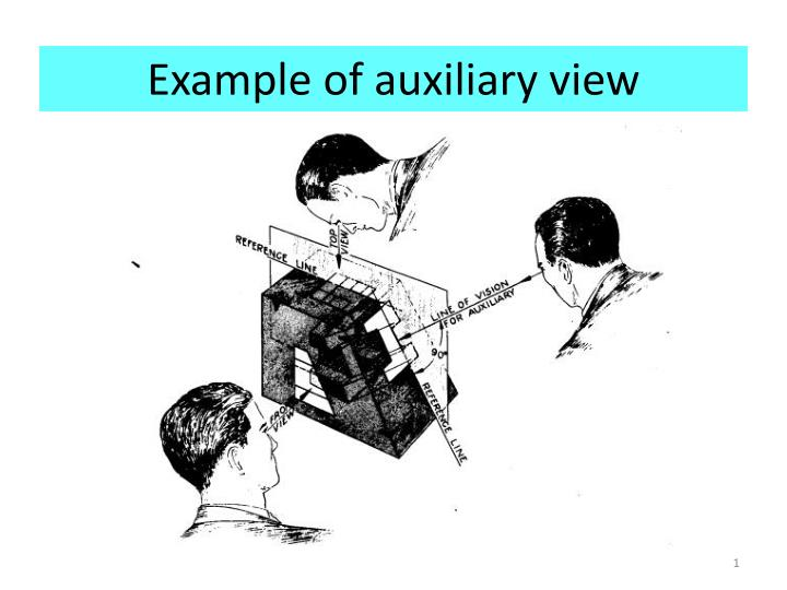 Example of auxiliary view