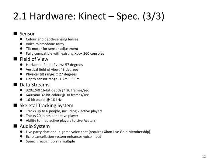 2.1 Hardware: