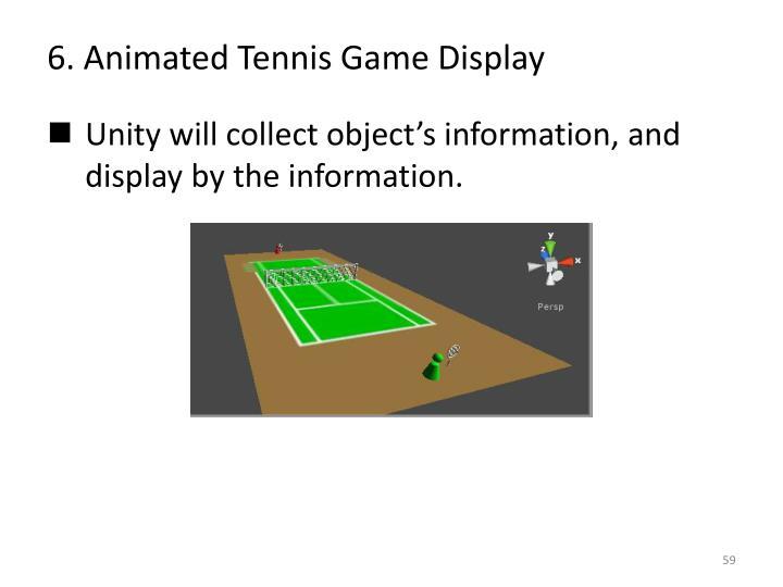 6. Animated Tennis Game Display