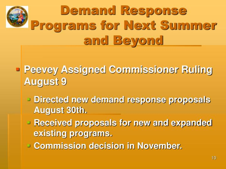Demand Response Programs for Next Summer and Beyond