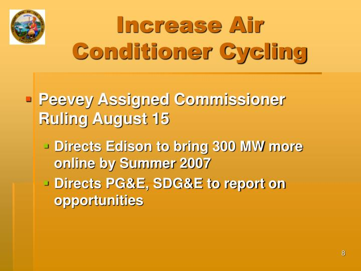 Increase Air Conditioner Cycling