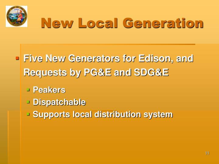 New Local Generation