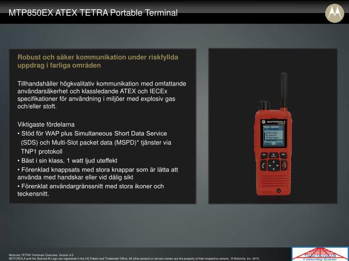 MTP850EX ATEX TETRA Portable Terminal