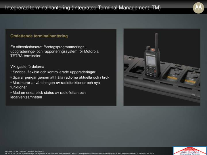 Integrerad terminalhantering (Integrated Terminal Management iTM)