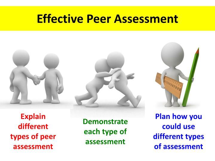 Effective Peer Assessment
