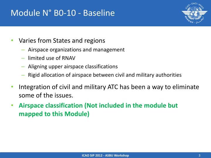 Module N° B0-10 - Baseline