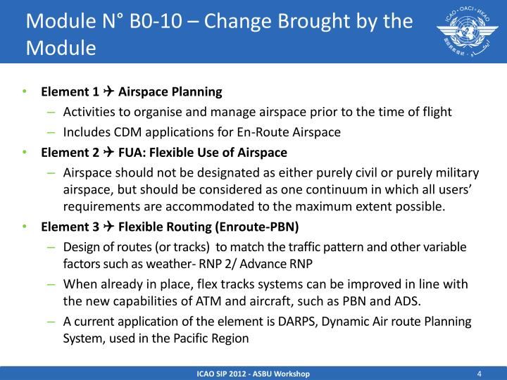 Module N° B0-10 – Change Brought by the Module