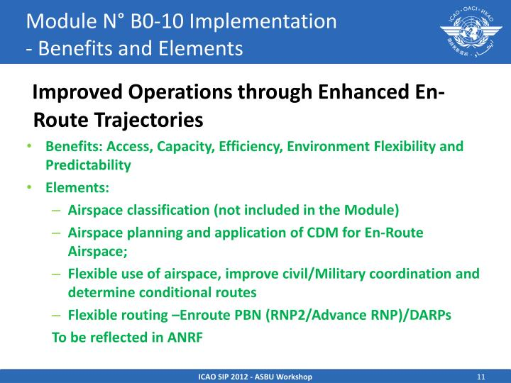 Module N° B0-10 Implementation                   - Benefits and Elements