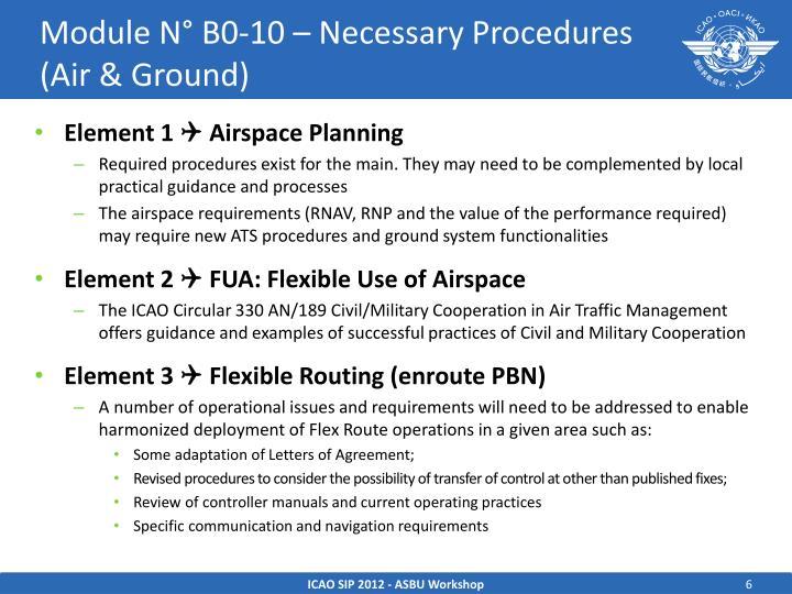 Module N° B0-10 – Necessary Procedures (Air & Ground)